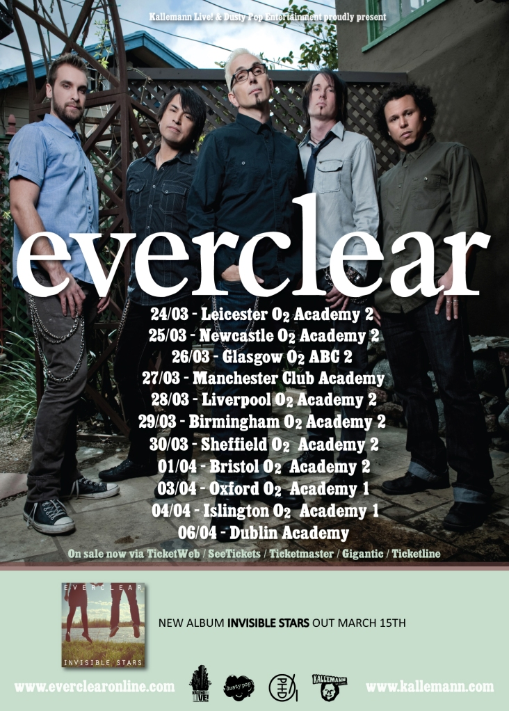 Everclear - UK Tour poster